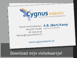 visitekaartje Cygnus interim